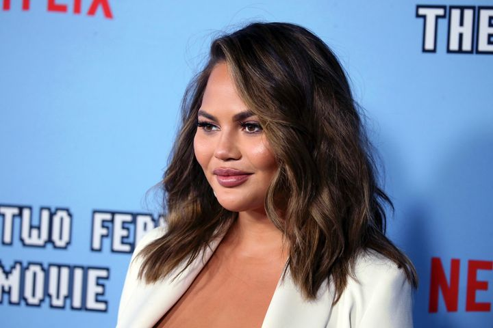 """Teigen attends the premiere of Netflix's """"Between Two Ferns: The Movie"""" on Sept. 16, 2019, in Hollywood, California."""