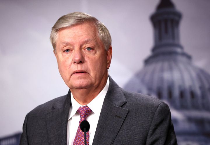 Sen. Lindsey Graham (R-S.C.), seen here Friday, said hehas tested positive for COVID-19 and has been having flu-like sy