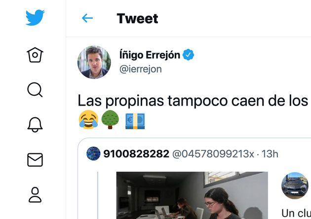 Captura de un tuit de Íñigo
