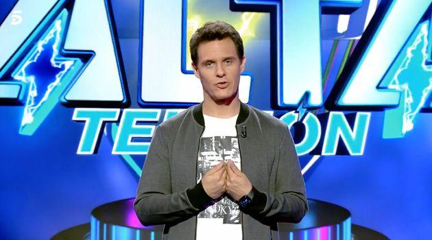 Christian Gálvez, en el estreno en Telecinco de 'Alta