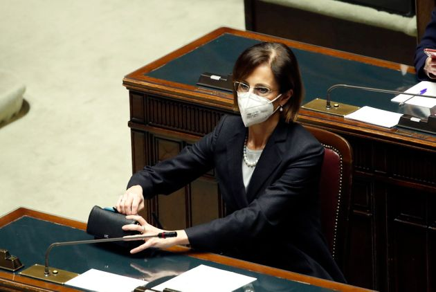 Italian minister of Justice Marta Cartabia during the session at the Chamber of Deputies on the occasion...