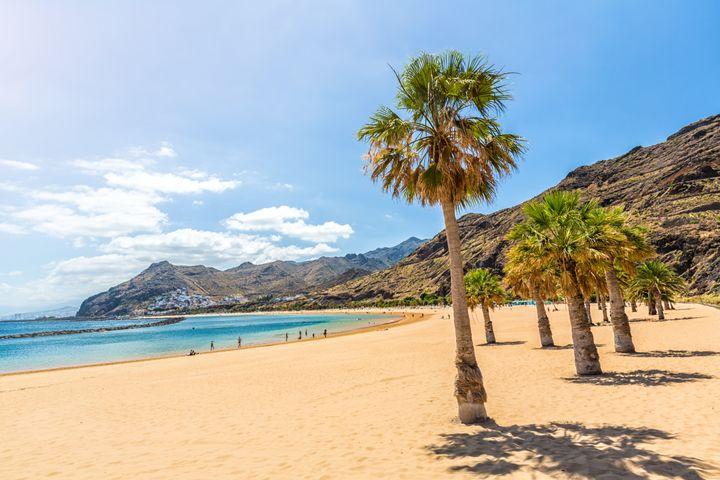 Imagen de la playa De Las Teresitas en Tenerife.