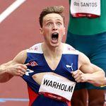 Warholm explose son maillot après en avoir fait de même avec le record du 400m