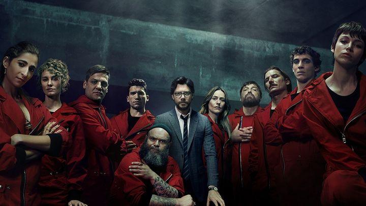 Imagen de los actores de 'La Casa de Papel' caracterizados.