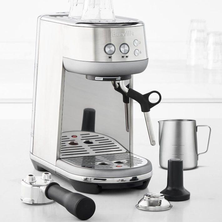 "<strong><a href=""https://go.skimresources.com/?id=38395X987171&xs=1&xcust=coffeemaker-KristenAiken-080321-&url=https%3A%2F%2Fwww.williams-sonoma.com%2Fproducts%2Fbreville-the-bambino-espresso-machine%2F%3FcatalogId%3D79%26sku%3D5821136%26cm_ven%3DPLA%26cm_cat%3DGoogle%26cm_pla%3DElectrics%2520%253E%2520Espresso%2520Makers%26region_id%3D669950%26cm_ite%3D5821136%26gclid%3DCjwKCAjwgISIBhBfEiwALE19Sdn5Sl6n9qf5cskDaoOhWFyfG-S-mcAdFAngC6Z6AeFM9LGSNjnHhRoCwf0QAvD_BwE"" target=""_blank"" role=""link"" rel=""sponsored"" data-ylk=""subsec:paragraph;itc:0;cpos:__RAPID_INDEX__;pos:__RAPID_SUBINDEX__;elm:context_link"">Get the Breville Bambino Espresso Machine for $299.95.</a></strong>"