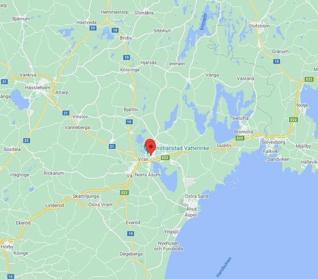 La localidad se encuentra al sur del
