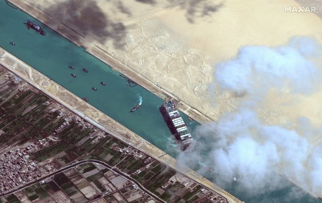 The Ever Given was stuck in the Suez Canal for a grand total of six long, embarrassing