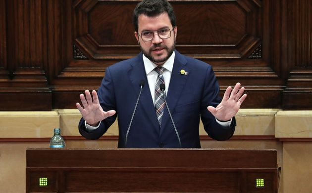 El presidente catalán, Pere Aragonès, el pasado 7 de julio en el