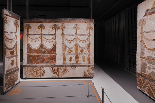 Οι θηραϊκές τοιχογραφίες στο Μουσείο Προϊστορικής