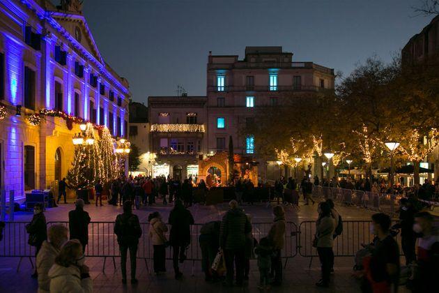 Una plaza de Sabadell, el pasado 20 de