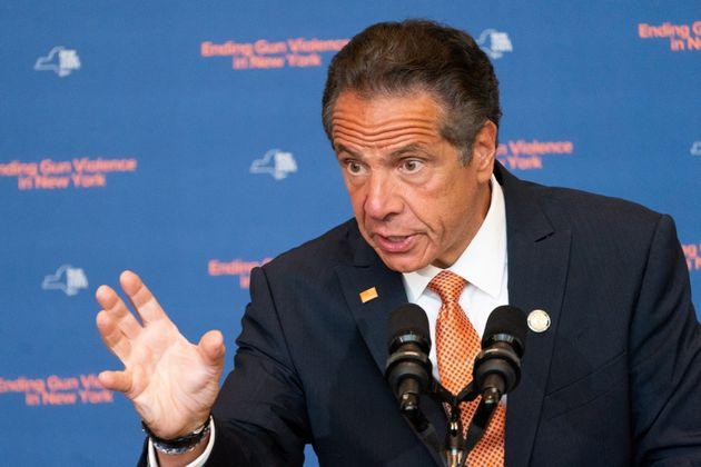 Le gouverneur de New York Andrew Cuomo, en conférence de presse le 6 juillet