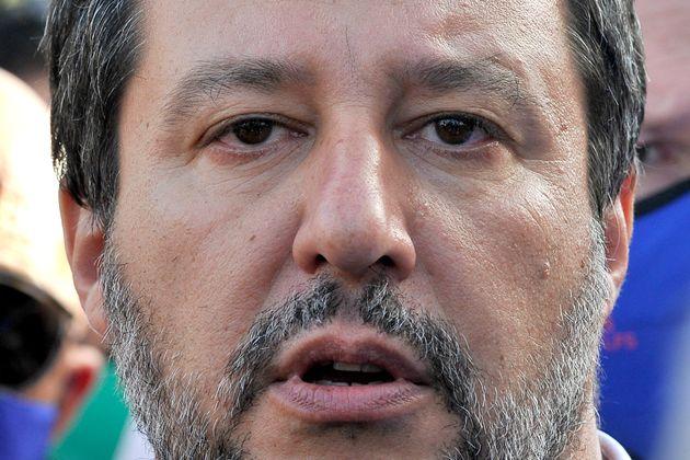 SANTA MARIA CAPUA VETERE, CASERTA, ITALY - 2021/07/01: Matteo Salvini Italian politician, during his...