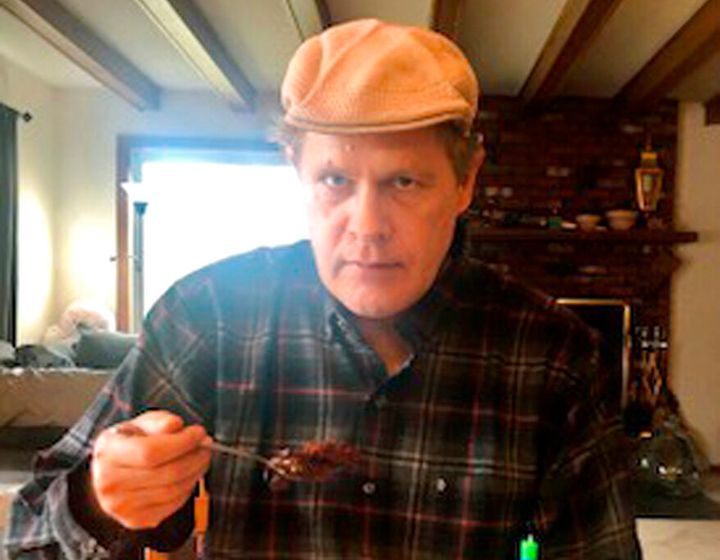 In this photo provided by Vedanta Griffith, Joshua Spriestersbach enjoys birthday cake on April 12, 2020, in Danby, Vt. (Veda