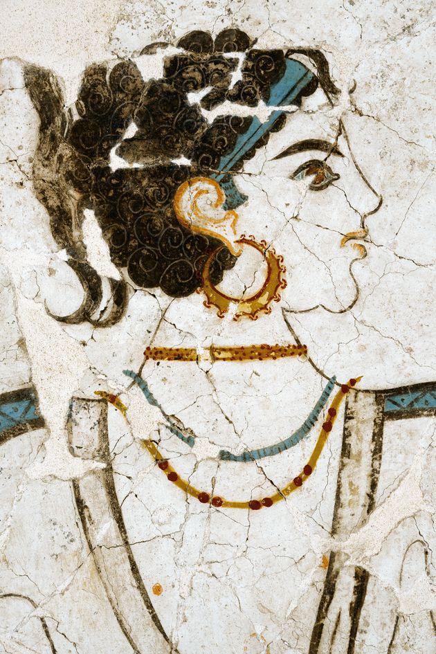Θηραϊκή τοιχογραφία στο Μουσείο Προϊστορικής