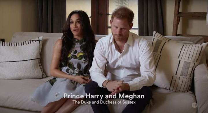 Meghan Markle and Prince Harry made a virtual appearance at Spotify's Stream On conference.