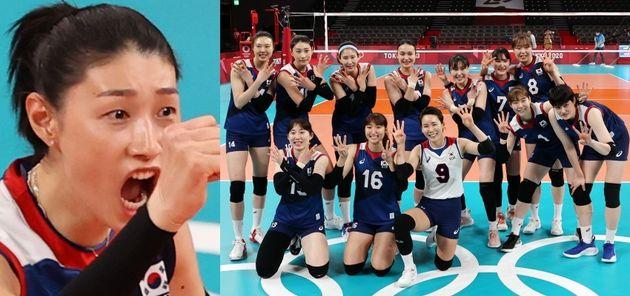 대한민국 여자 배구 대표팀이 준결승에
