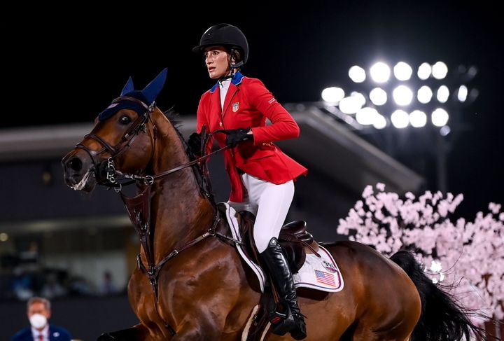 Jessica Springsteen, aboard Don Juan Van De Donkhoeve, did not advance past the jumping individual qualifier but has another