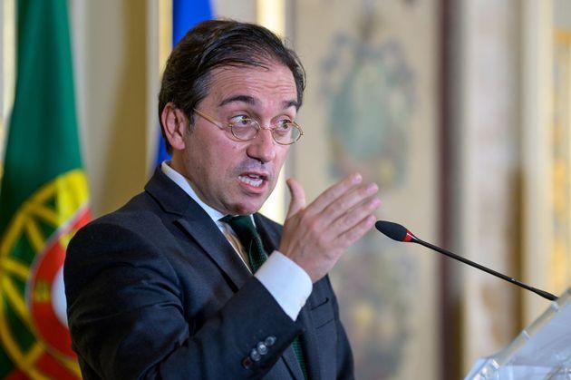 El ministro de Asuntos Exteriores, José Manuel Albares, este miércoles en