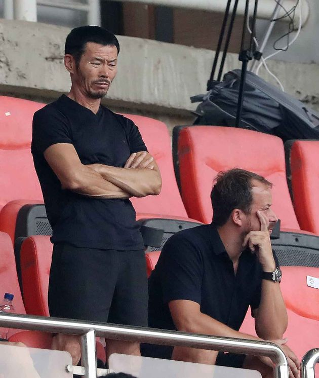 2018 자카르타·팔렘방 아시안게임 U-23 남자축구 4강전 대한민국과 베트남의 경기에서 손흥민 아버지인 손웅정 씨가 경기를 지켜보고
