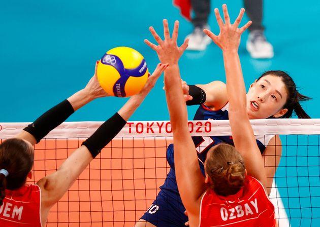 4일 일본 도쿄 아리아케 아레나에서 열린 2020 도쿄올림픽 여자배구 8강 터키와 경기에서