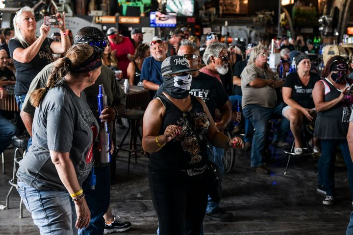 A file image from the 80th Annual Sturgis Motorcycle Rally in Sturgis, South Dakota on August 9, 2020.