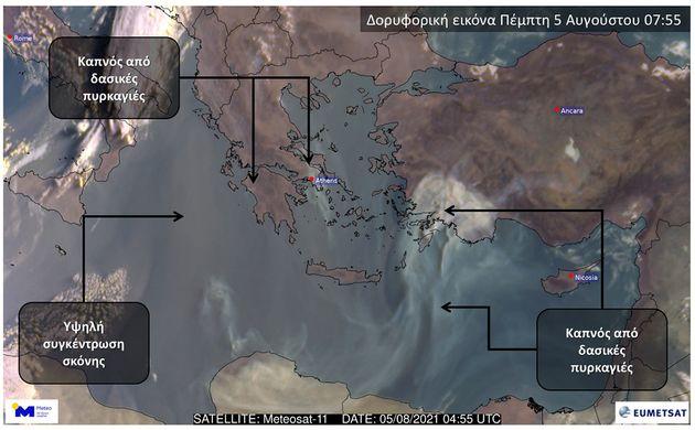 «Μπαρούτι» η ατμόσφαιρα στην Ελλάδα λόγω των πολλών μικροσωματιδίων από τις