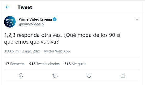 El tuit de Prime Video que ha generado el fenómeno