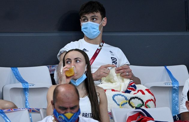 Tom Daley has spotted knitting in the Olympic crowd twice this