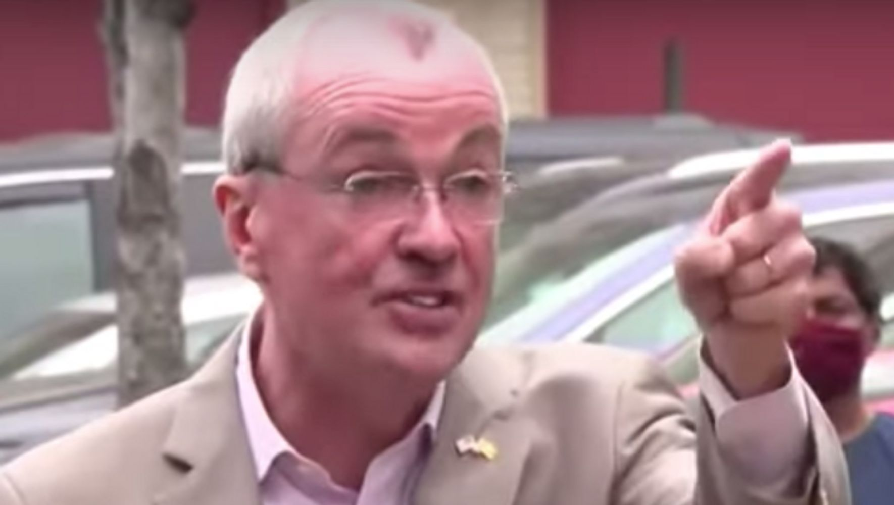 Anti-Vaccine Hecklers Get An Earful From New Jersey's Gov