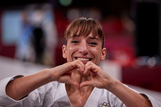 Sandra Sánchez, emocionada tras conseguir el oro