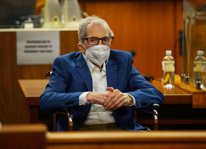 Robert Durst faces jurors in May, shortly before opening statements in his murder trial.