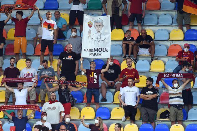 The Roma fans the friendly match AS Roma-Debrecen at the Benito Stirpe Stadium in Frosinone. Frosinone (Italy), July 25th, 2021 (Photo by Massimo Insabato/Archivio Massimo Insabato/Mondadori Portfolio via Getty Images)