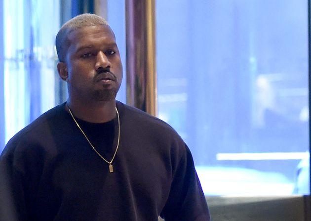 Le chanteur Kanye West dans la Trump Tower le 13 decembre 2016 à New