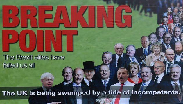 Led By Donkeys worked with other anti-Brexit group on this poster which was a take on Farage's famous...