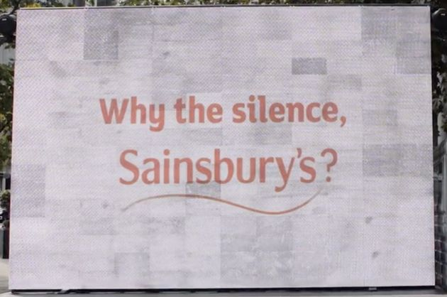 Led By Donkeys' caption for their new campaign against Sainsbury's is taking