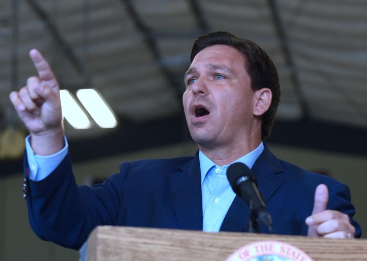 Florida Gov. Ron DeSantis, whose state's hospitals are filling up with COVID-19 patients, has said that vaccination requirements threaten freedom.