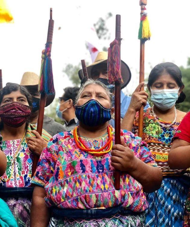 Los indígenas de Guatemala gritan
