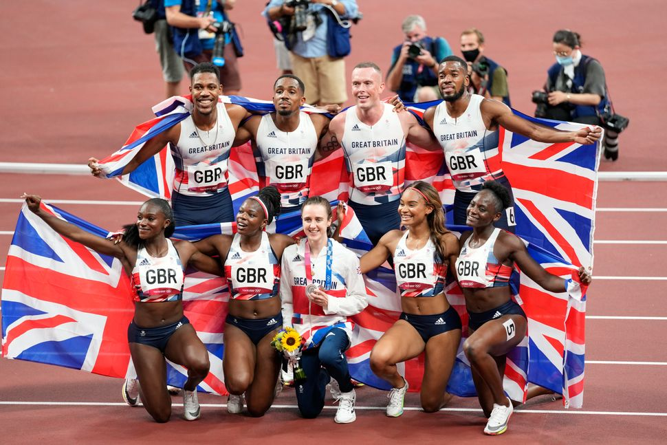 Team GB's athletes celebrate their triumphs on the track in Tokyo