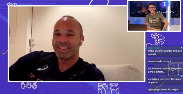 Entrevista a Iniesta en TVE a través de