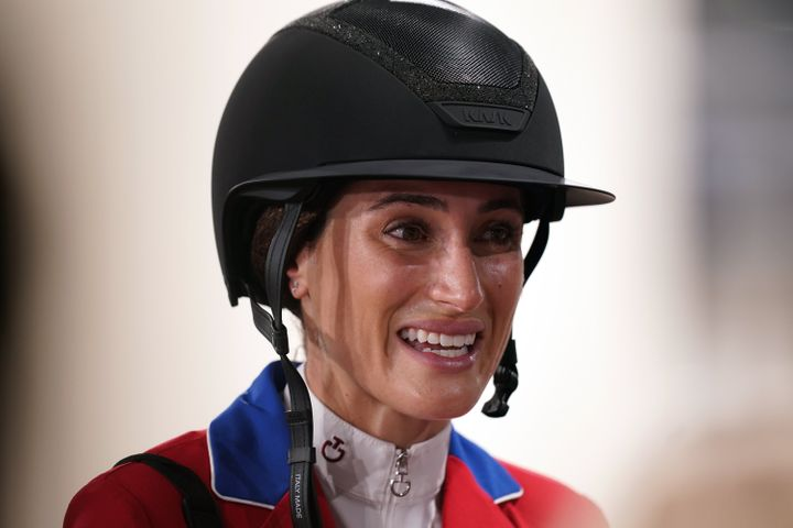 Jessica Springsteen, the daughter of rockers Bruce Springsteen and Patti Scialfia, gets a silver in her Olympic debut.