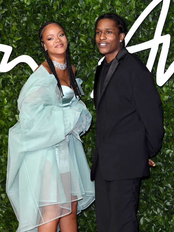 Rihanna and A$AP Rocky at the Fashion Awards 2019 at the Royal Albert Hall in London. Forbes estimates Rihanna is now worth $1.7 billion.