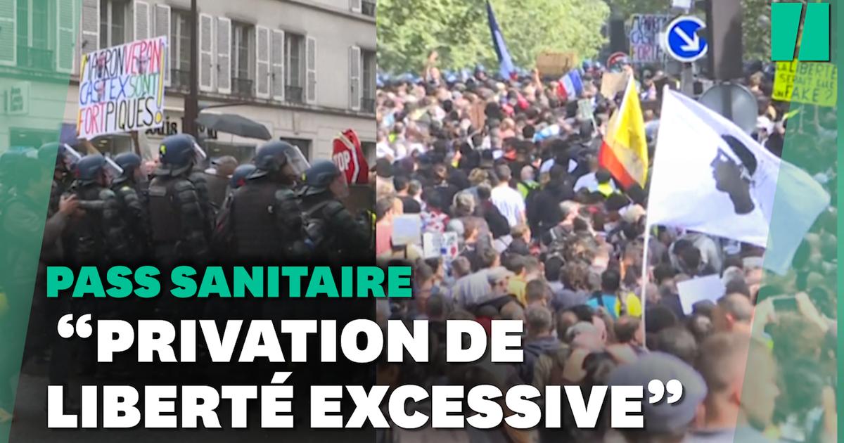 Image Pass sanitaire: 237.000 manifestants partout en France, très encadrés par la police