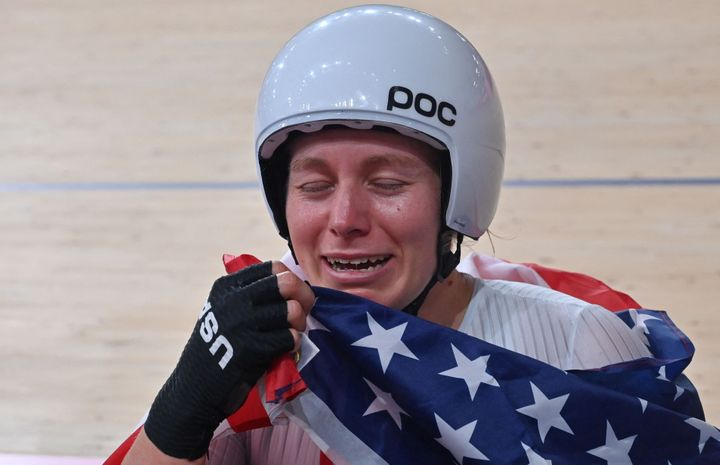 Jennifer Valente won the only U.S. cycling gold on the final day of cycling at the Olympics.