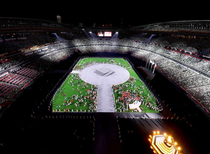 A general view during the closing ceremony at Olympic Stadium.