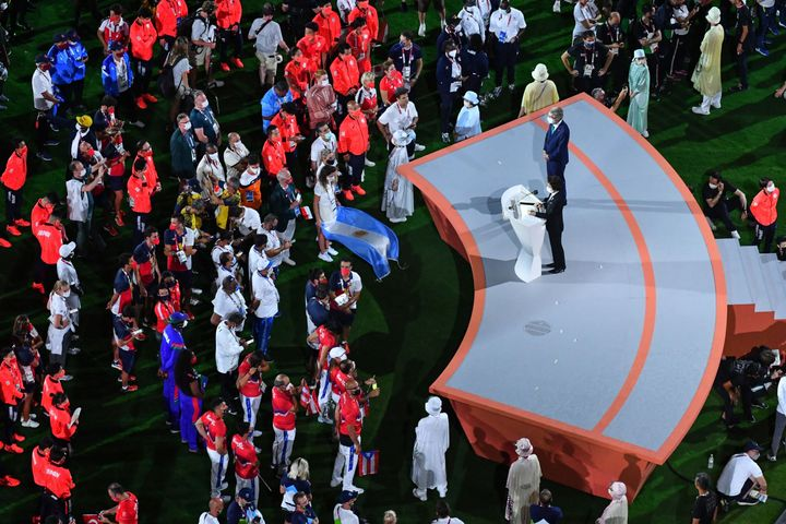 The closing ceremony concluded a Games that were often tense and highlighted mental health.