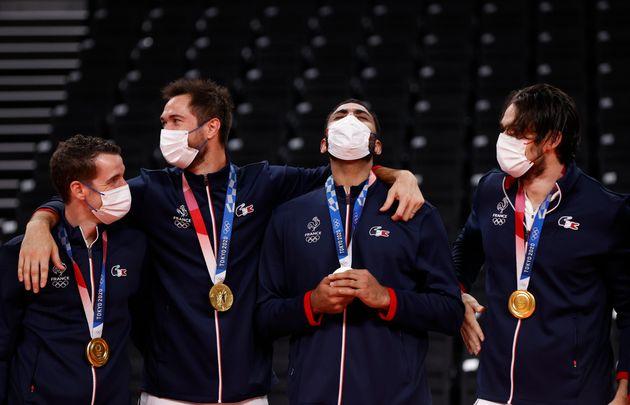 Les douze membres de l'équipe de France de volley dont Kevin Tillie et Earvin Ngapeth, ici au...