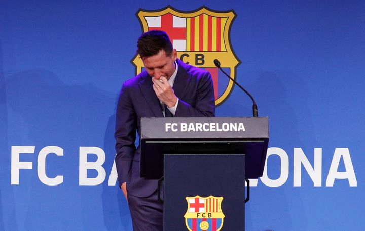 Messi said he did everything possible to stay, including reducing his salary by 50%.