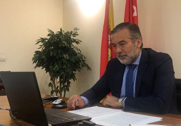 El consejero de Presidencia, Justicia e Interior de la Comunidad de Madrid, Enrique