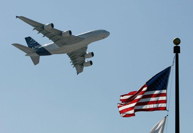 Un A380 décolle de l'aéroport JFK de New York, le 20 mars