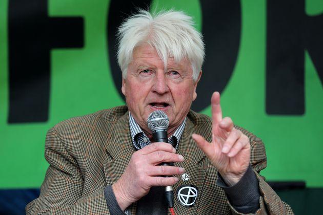 Johnson addressing Extinction Rebellion crowds in